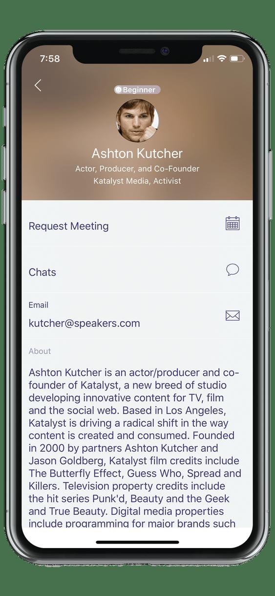 event app speaker