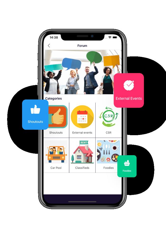 aida employee engagement app menu